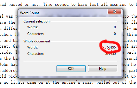 word count proof